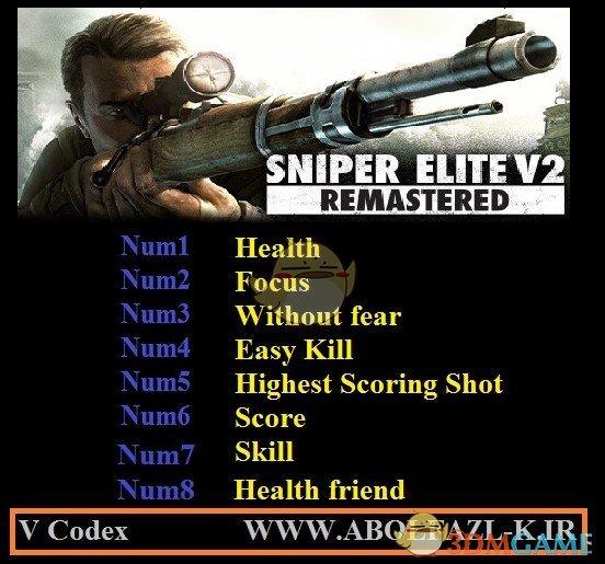 《狙击精英V2重制版》v1.0八项修改器[Abolfazl]