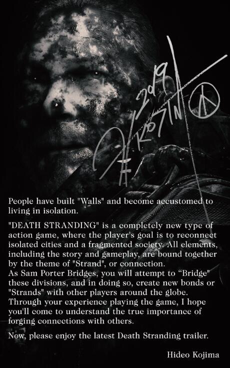 11月8日发行 《死亡搁浅》实机宣传演示正式公布