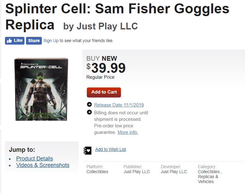全球最大实体游戏商 或间接泄露《细胞分裂》新作发售日