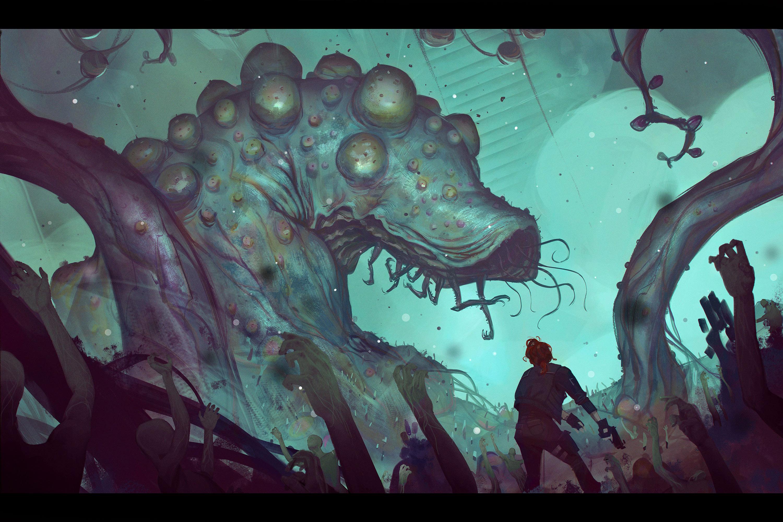 《对马岛之鬼》新原画!2019年度游戏原画大赛获奖作品出炉