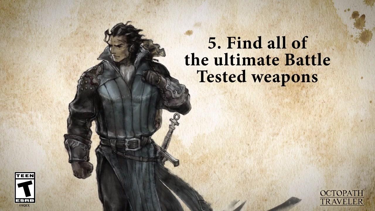 《歧路旅人》PC版新預告片展示游戲內挑戰成就