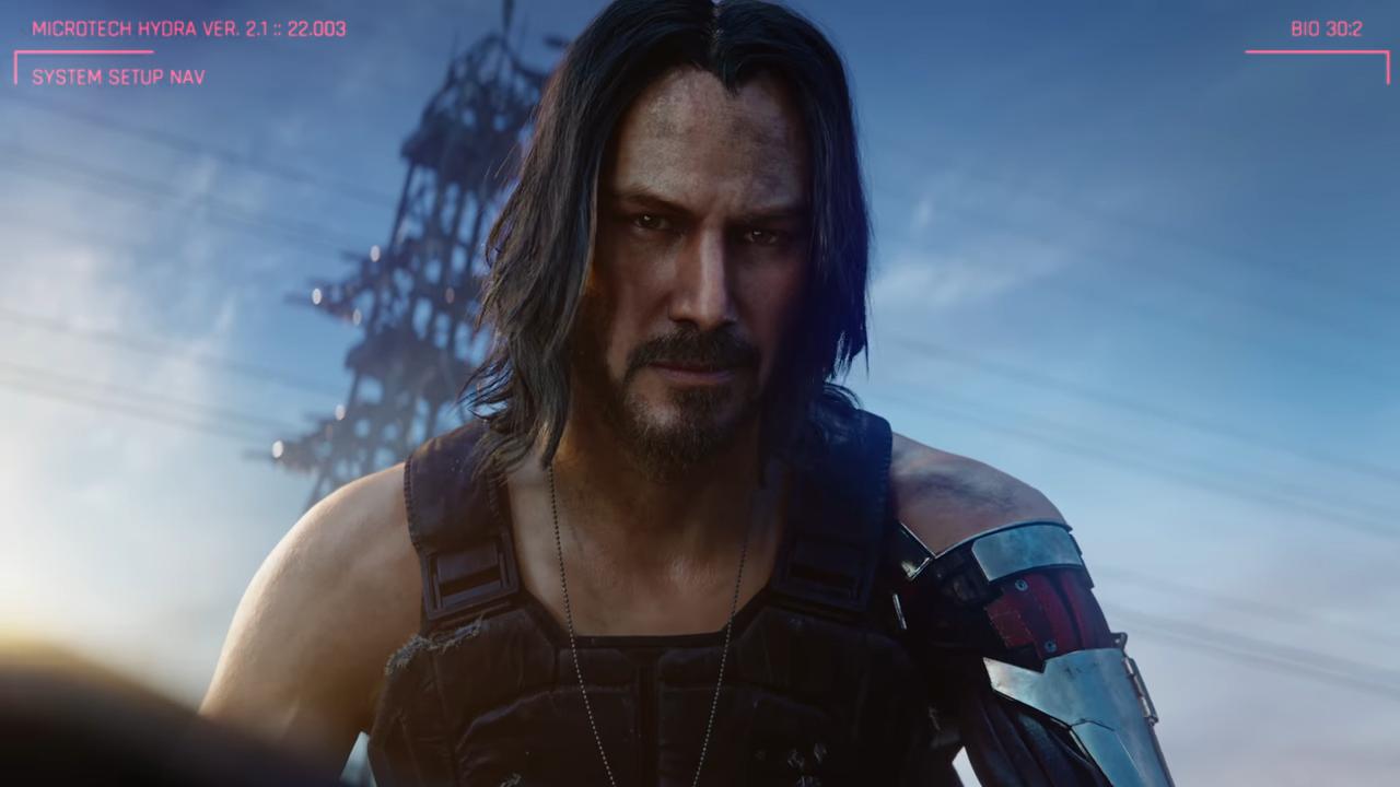 E3:《赛博朋克2077》基努扮演角色曝光 摇滚战士银手强尼