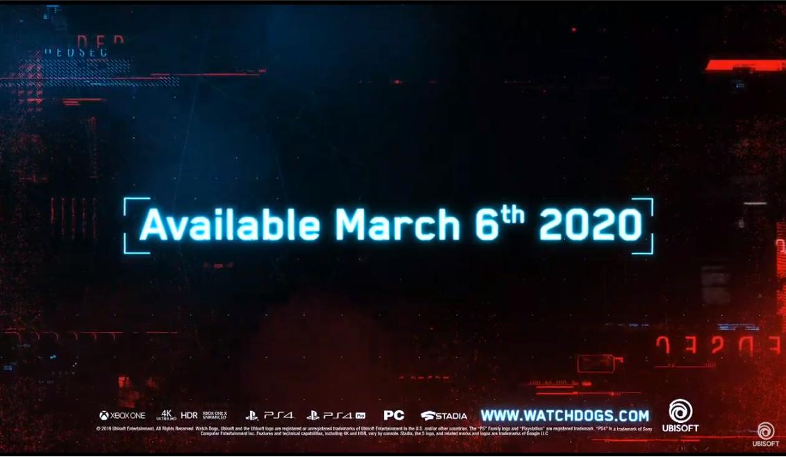 E3:《望门狗:军团》实机演示公布 2020年发售