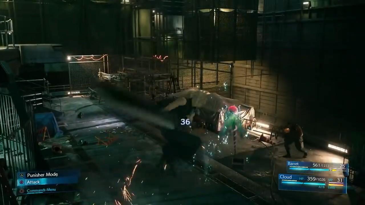 最终幻想7重制版E3战斗细节演示 ATB槽再次回归图片3