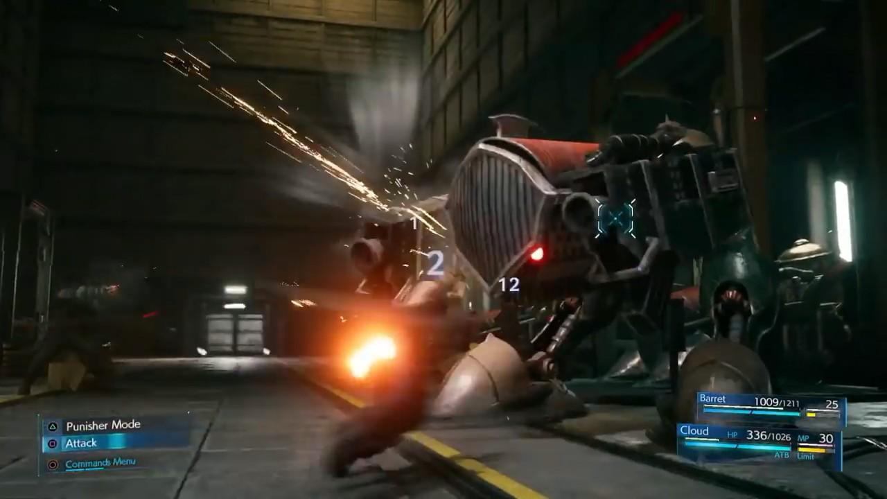 最终幻想7重制版E3战斗细节演示 ATB槽再次回归图片6