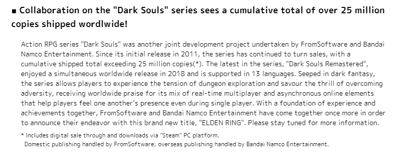 E3:FS社又一里程碑 《黑魂》系列突破2500万份销量