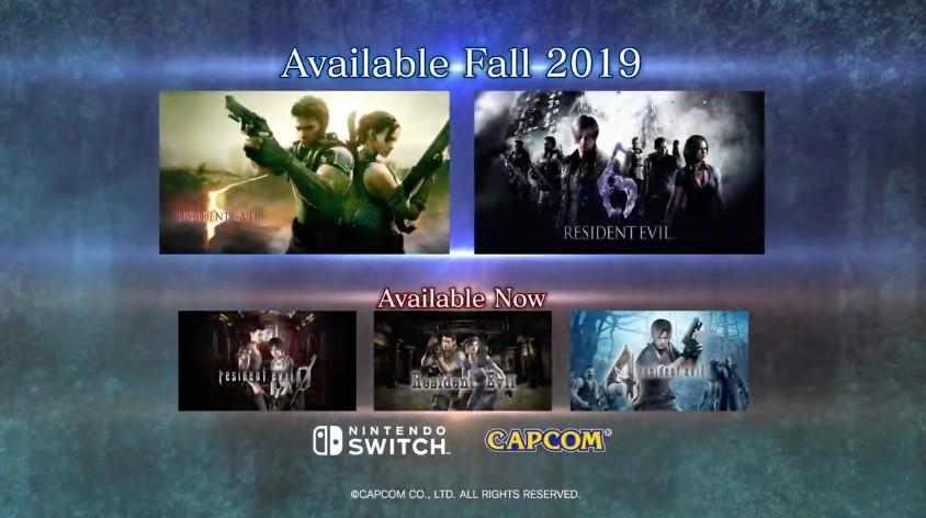 E3:《生化危机5》《生化危机6》将推出Switch版