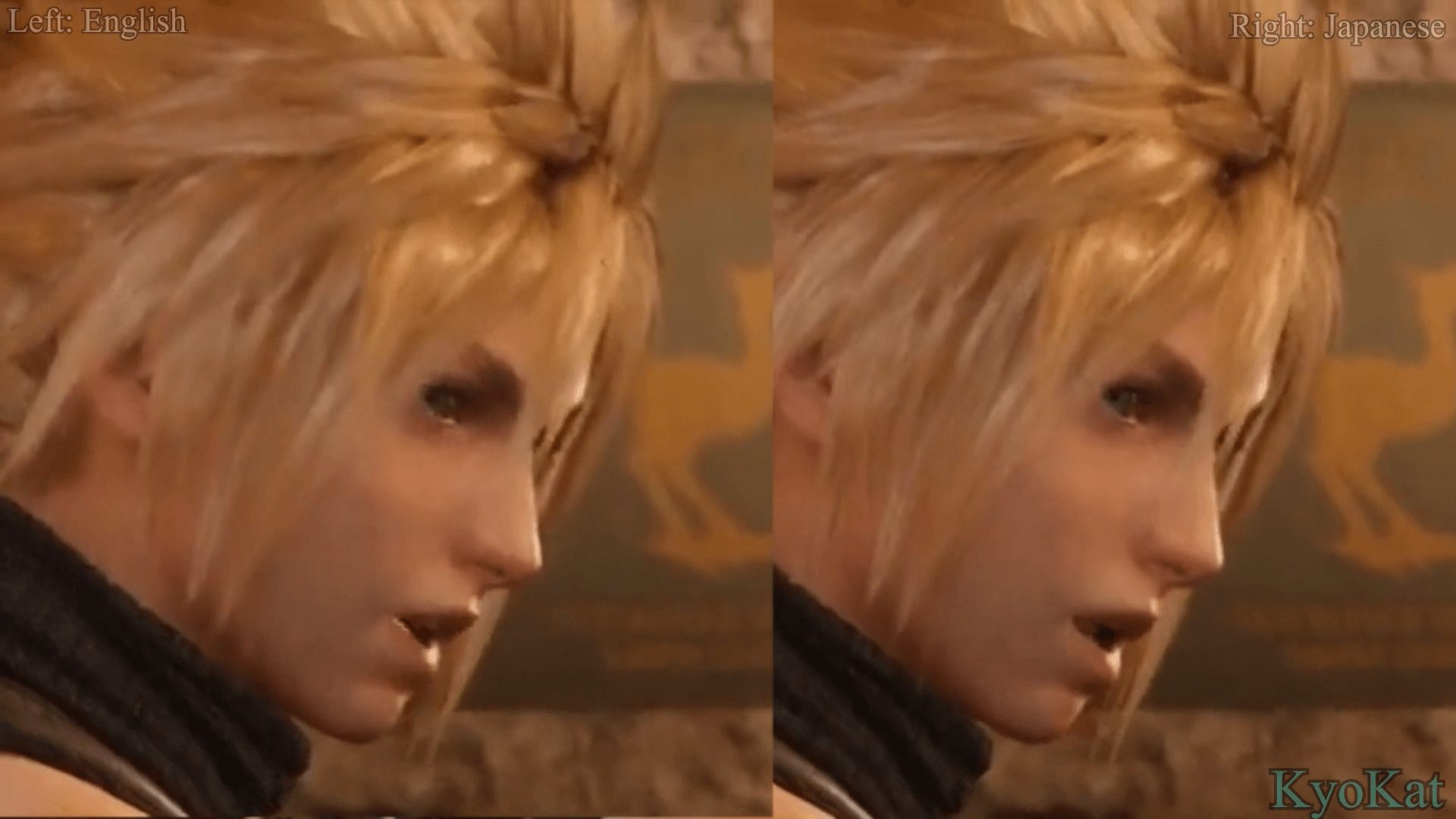 唇音细节好评!《最终幻想7:重制版》美日版预告对比