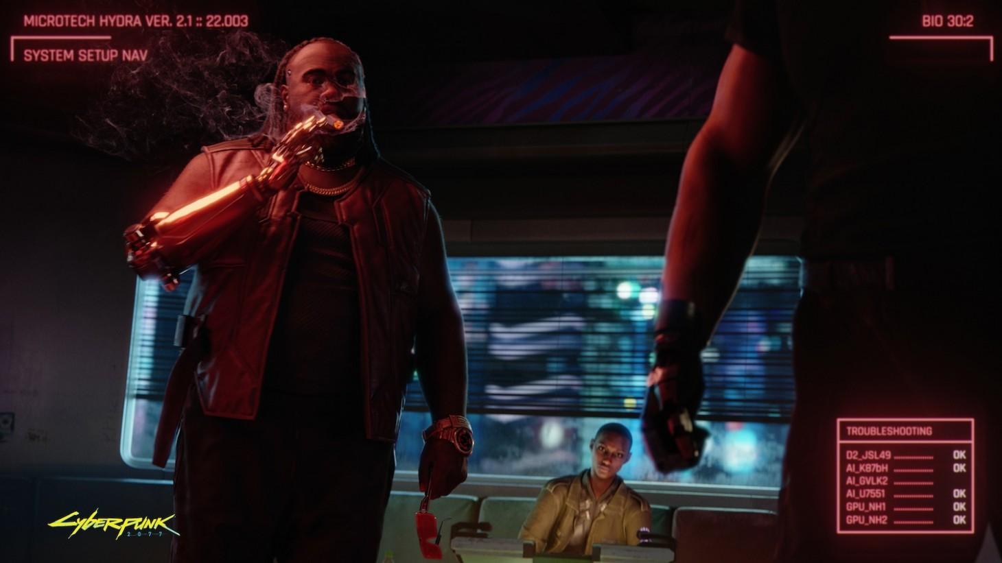 《赛博朋克2077》情报:玩家行为影响多 信誉高也不好
