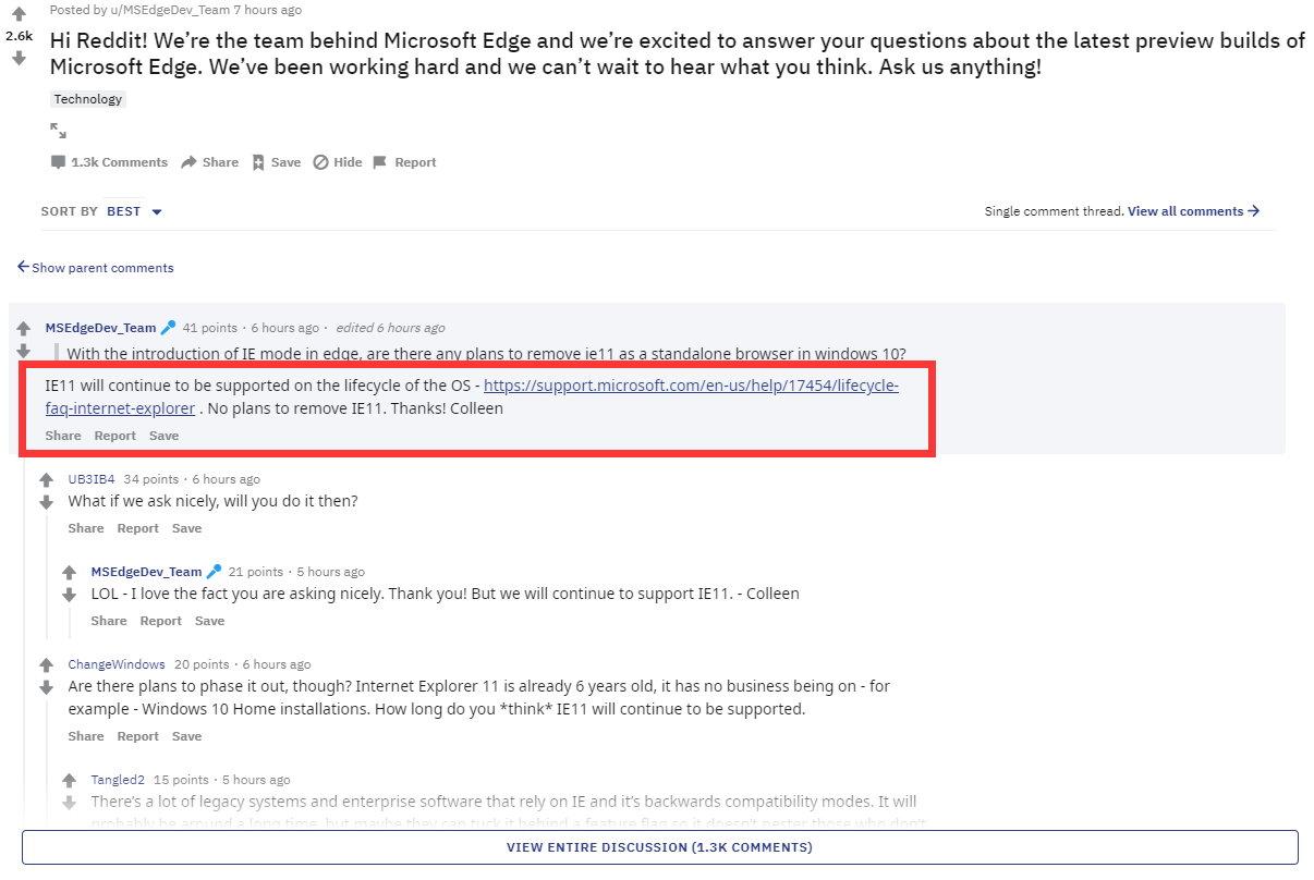 见?微软:没方针从Win10中移除IE11云顶集团jb40