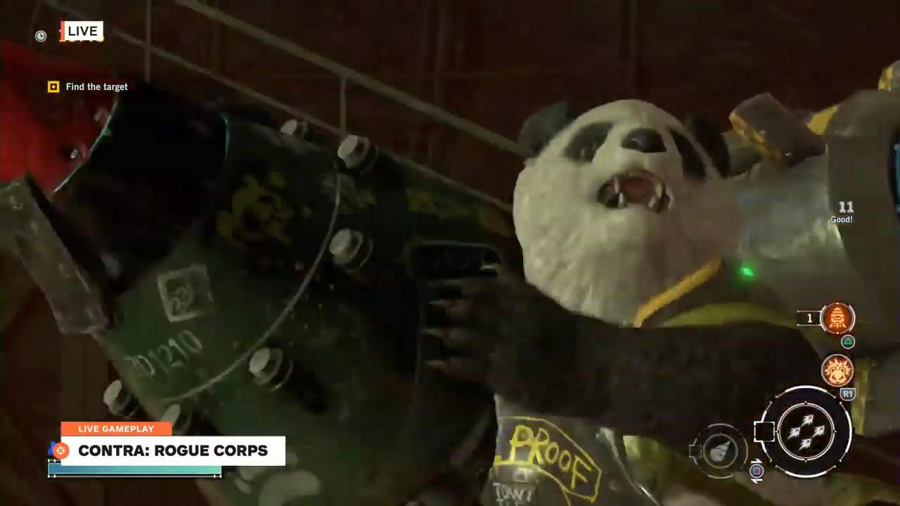 《魂斗罗:流氓军团》实机演示 熊猫人大战骷髅兵