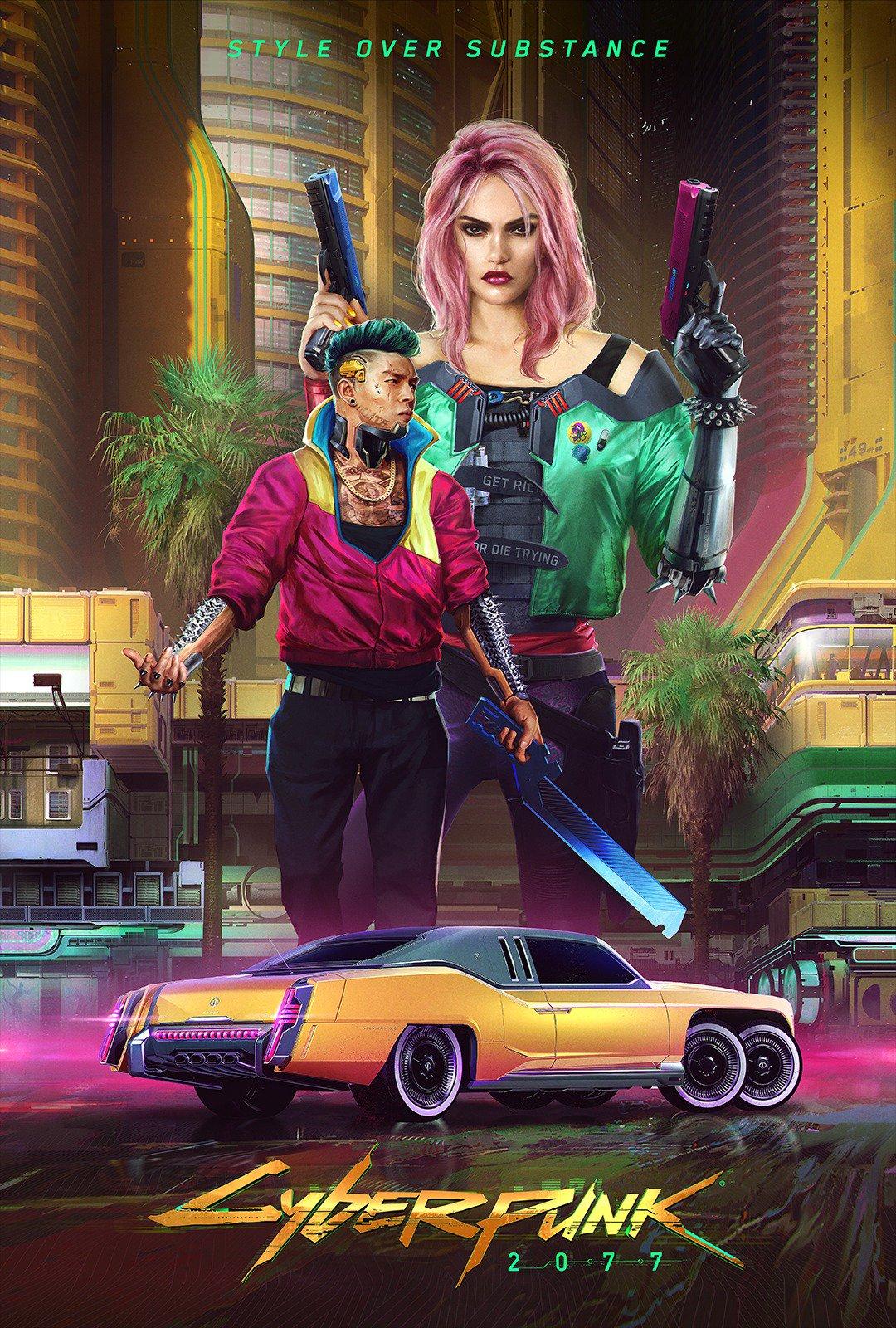 《赛博朋克2077》全新概念图发布 官博解释两种主