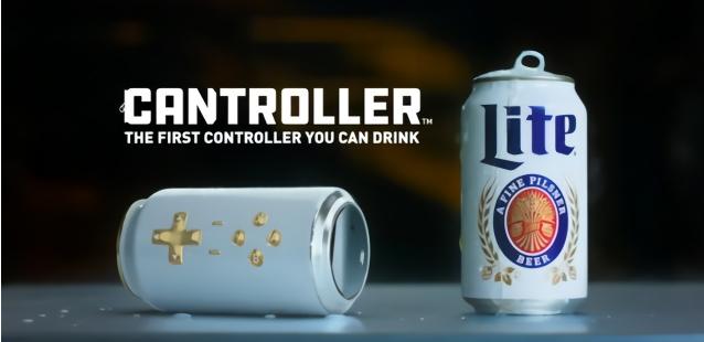 充电可玩3小时!E3展奇趣啤酒易拉罐手柄吸眼球