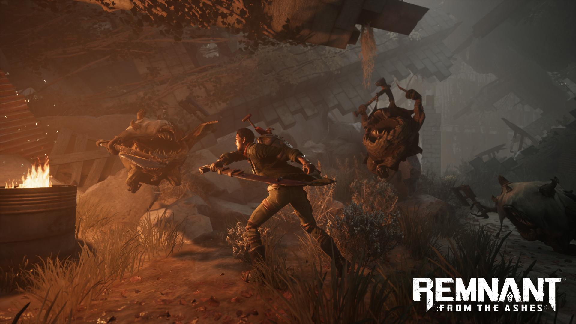 《遗迹:灰烬重生》最新截图 手持大枪锤子猛击怪物
