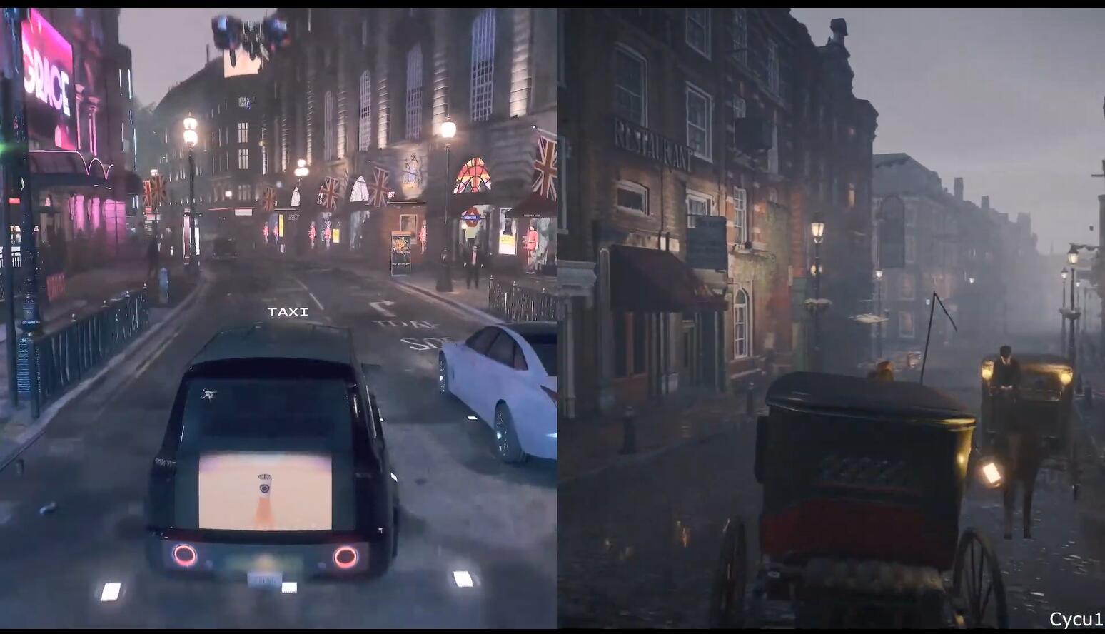 同样出自育碧 《看门狗军团》和《AC:枭雄》的伦敦有何不同