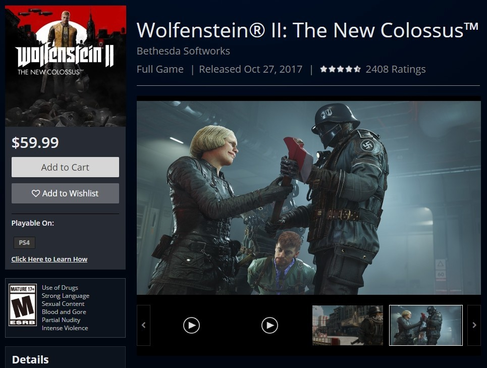 《德军总部:新血液》 比前作更庞大 售价还比前作低