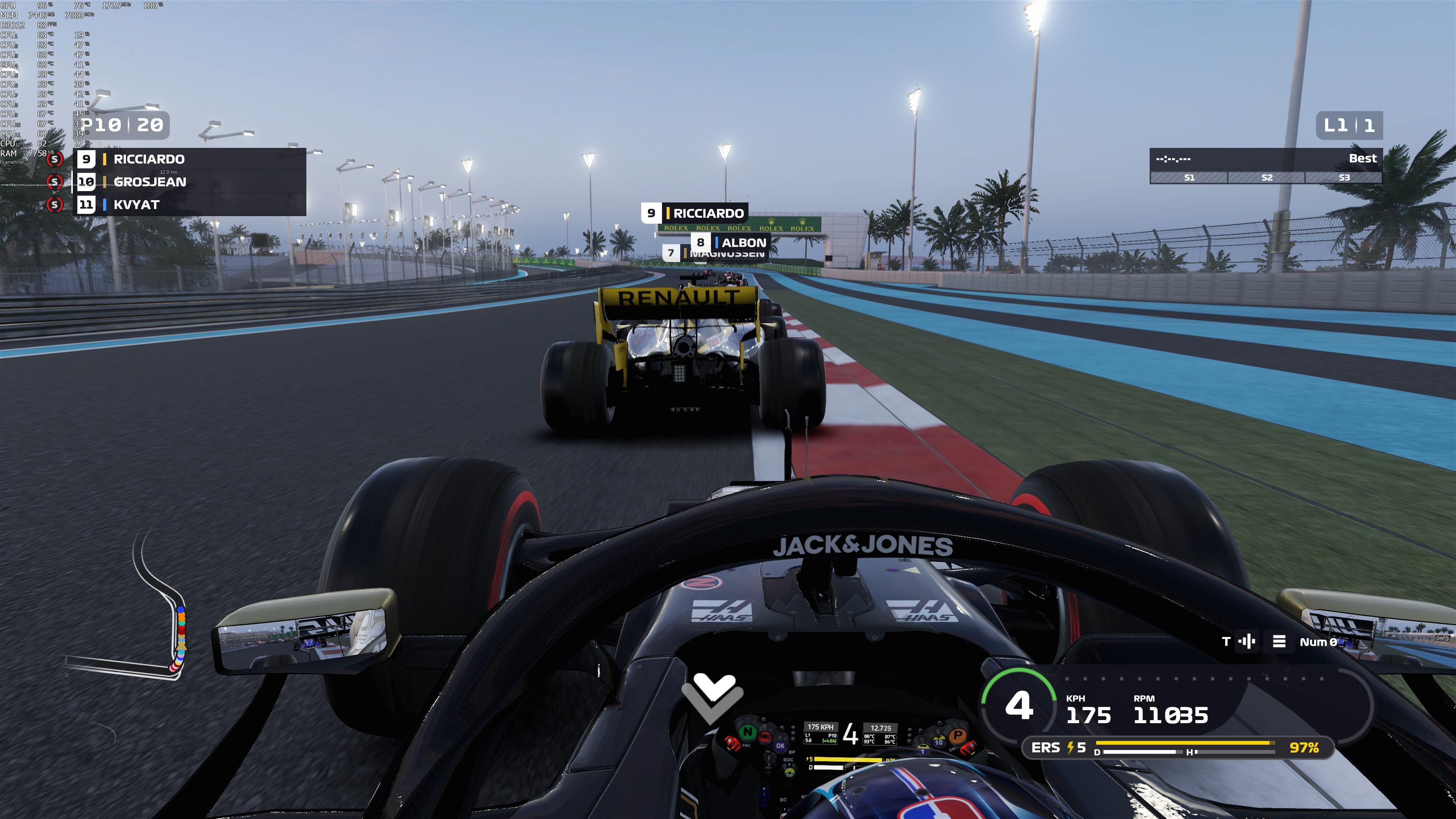 《F1 2019》是迄今为止画面最益的F1赛车嬉戏