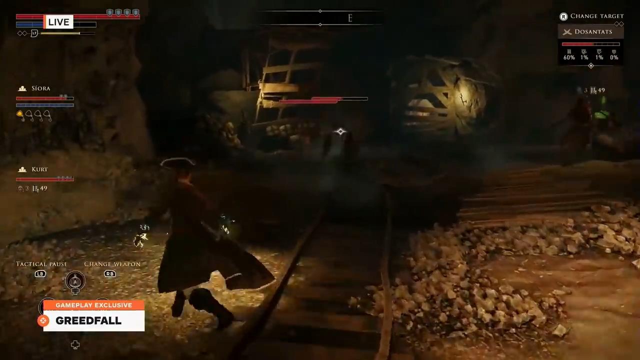 动作RPG游戏《贪婪之秋》10分钟演示 战斗借鉴了黑魂