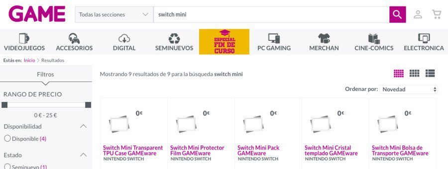 现已下架 西班牙零售商也惊现Switch迷你型号周边