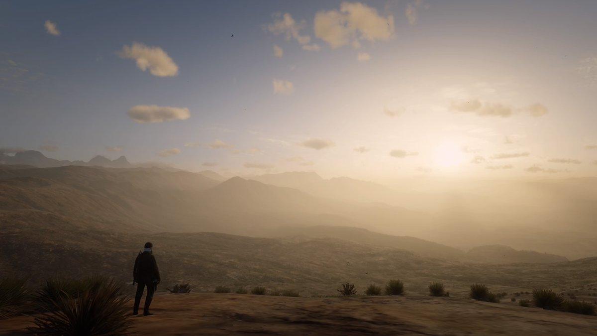《荒野大镖客OL》玩家突破地图边界看风景 画面