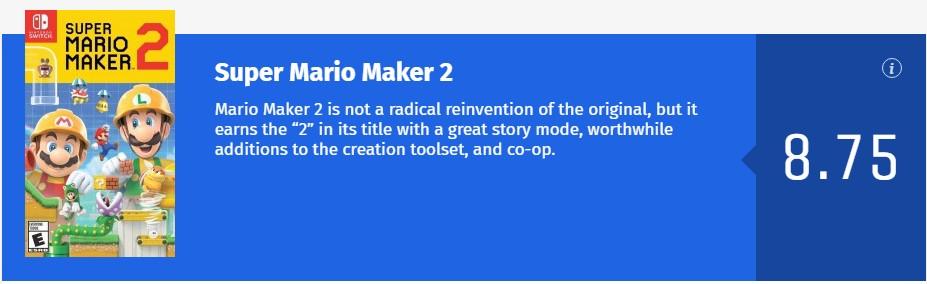 《超级马里奥制造2》IGN 9.5分:史上最好游戏设计工具