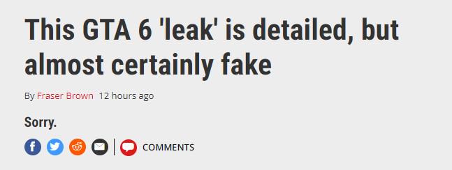 这下可以放心了!外媒确认《GTA6》的泄露是假的