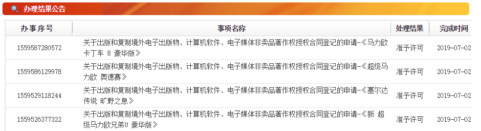 《塞尔达传说》 等4款Switch游戏中国版权申请获准许