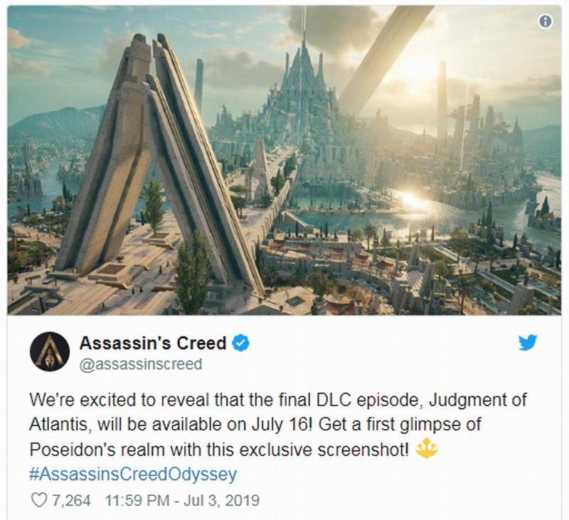 """《刺客信条:奥德赛》DLC""""亚特兰蒂斯的命运""""最终章本月推出"""