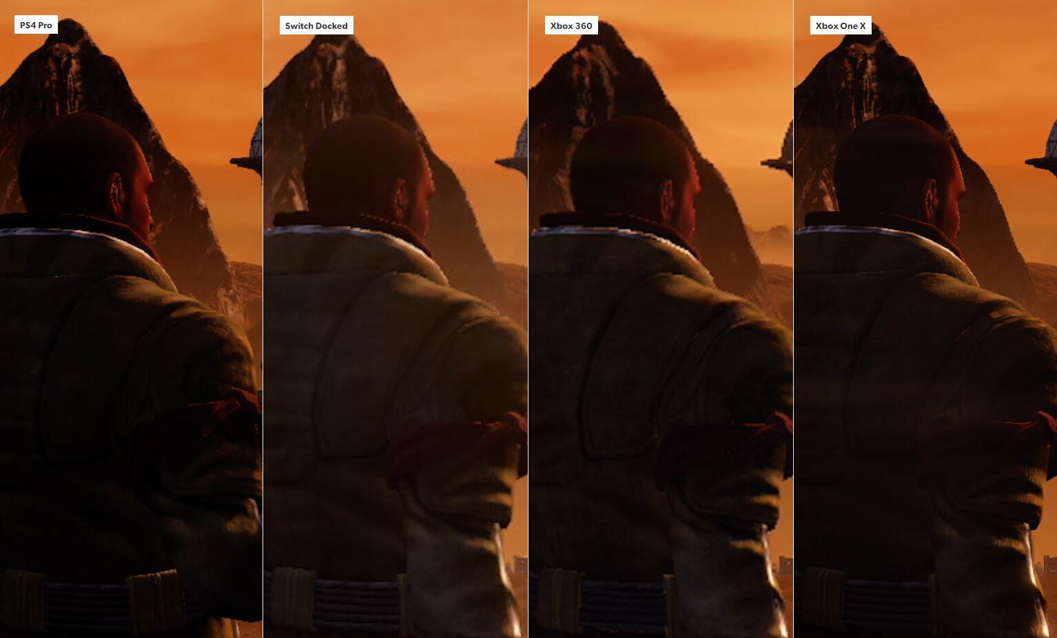 DF《红色派系:游击战》各版本画质对比 NS可以一战