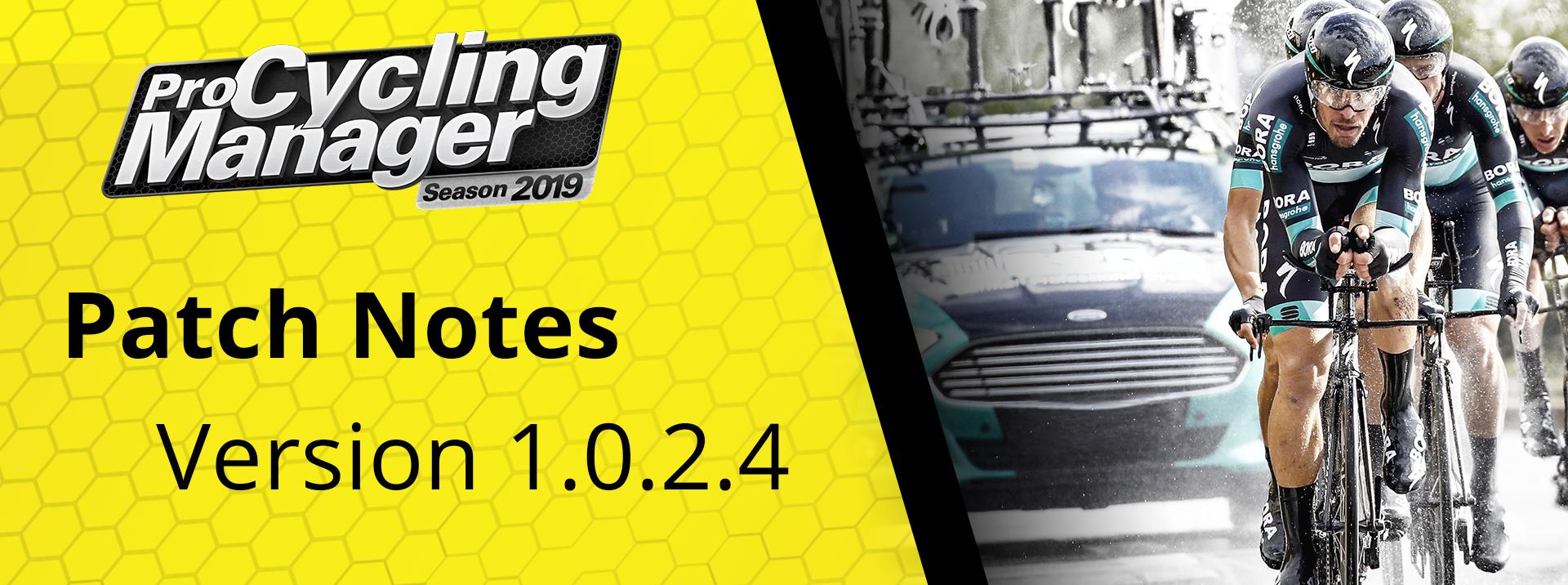 《职业自行车队经理2019》1.0.2.4更新补丁发布