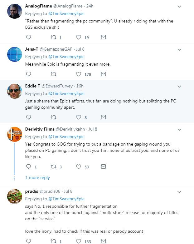 《赛博朋克2077》PC预购GOG占1/3 Epic发贺电遭嘲讽