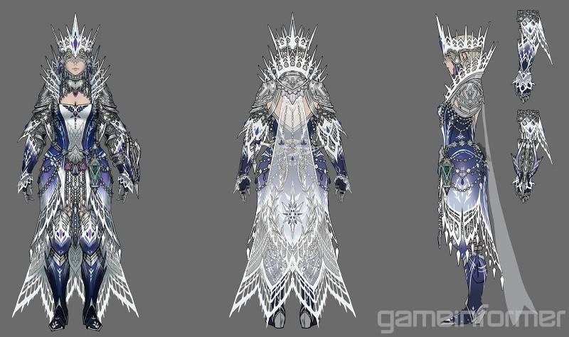 《怪猎世界:冰原》冰咒龙截图及设计图 很好很强大