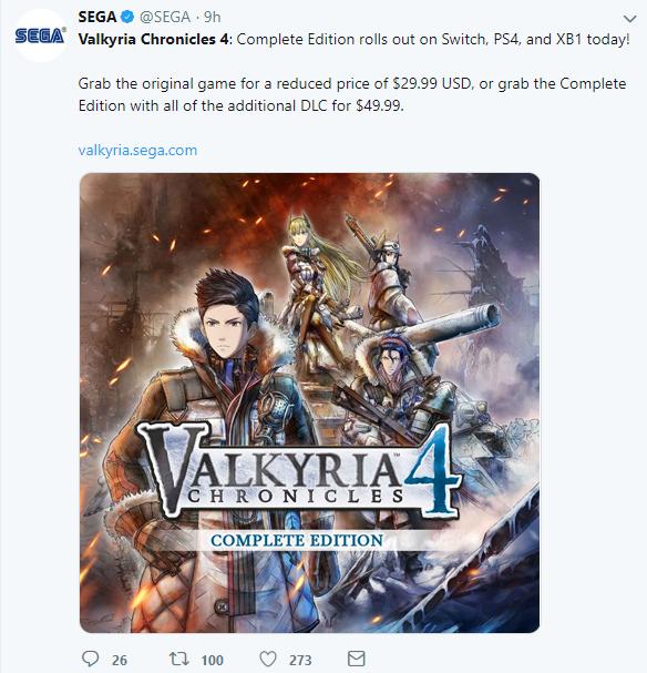 《战场女武神4:完整版》正式公布 原版售价下调至30美元
