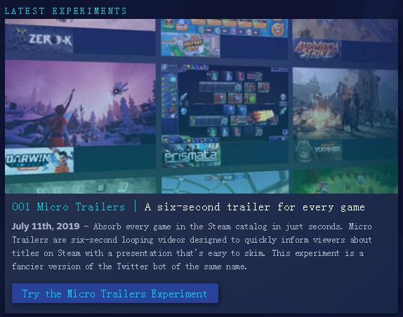 V社推出Steam实验室 帮玩家找到自己喜欢的游戏