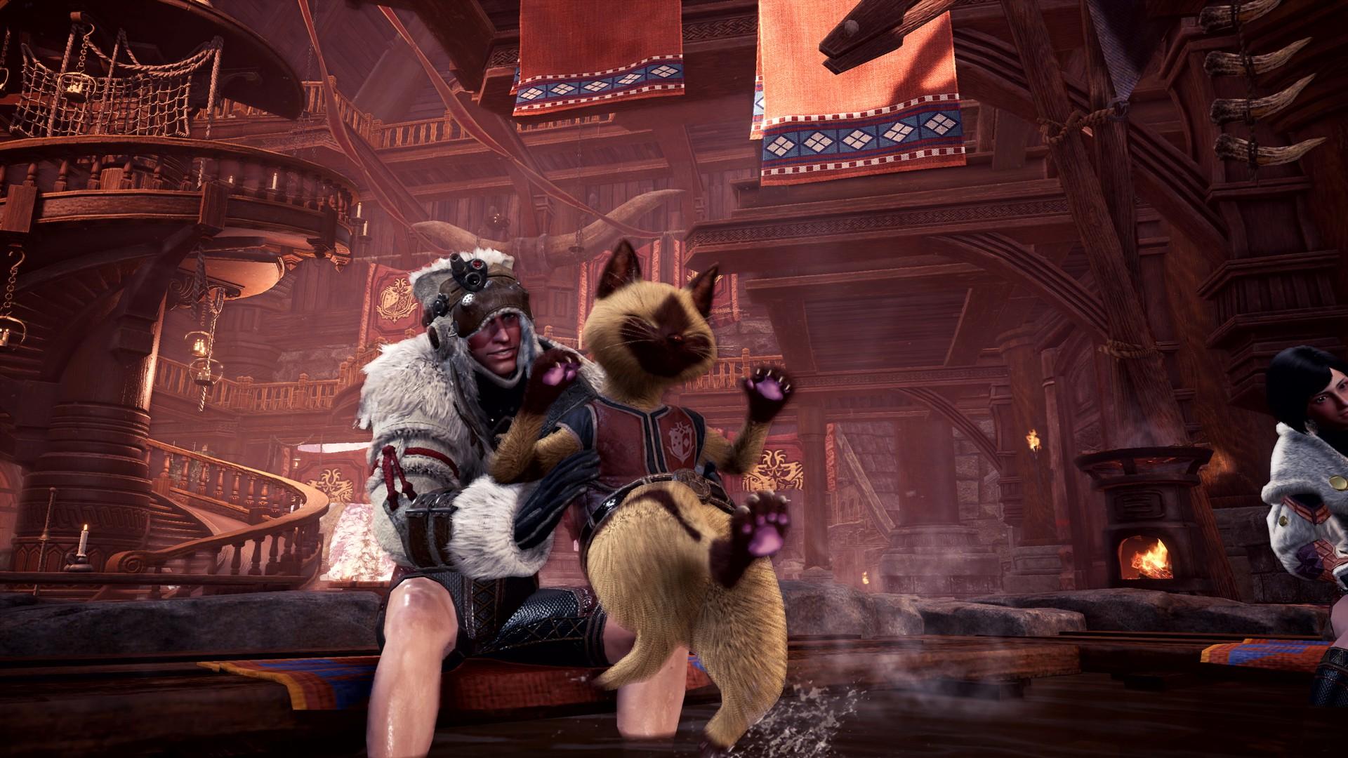 《怪物猎人世界:冰原》新图 斩龙雷鄂龙凶爪龙霸气