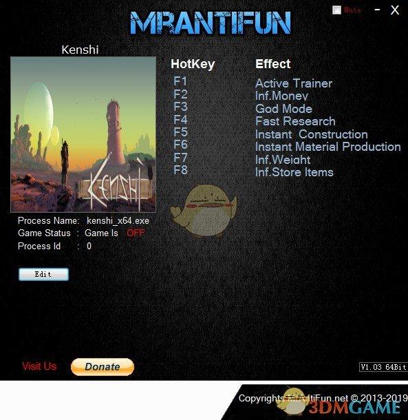 《剑士(Kenshi)》v1.0.31七项修改器[MrAntiFun][64位]