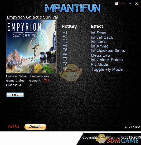 《帝国霸业:银河生存》v10.2.2.2567八项修改器[MrAntiFun]