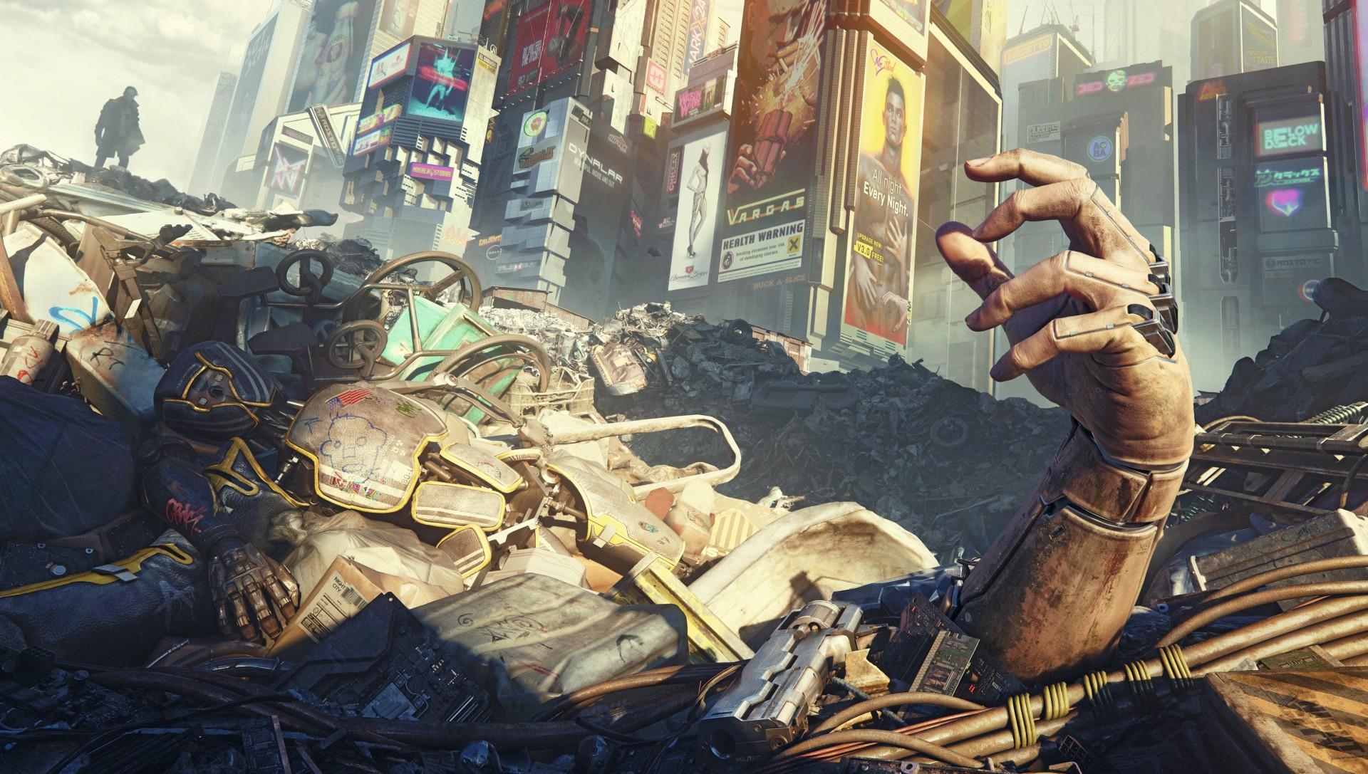 《赛博朋克2077》载具有电台 开车听音乐好惬意