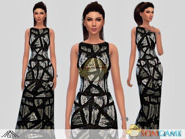 《模拟人生4》女性黑白双色礼服MOD