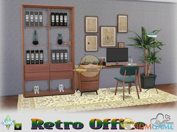 《模拟人生4》办公室木质家具MOD