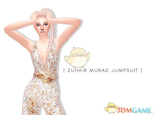 《模拟人生4》金色树叶花边连衣裤MOD