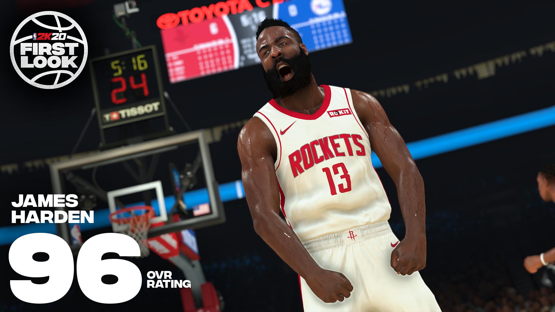 《NBA 2K20》明星球员评分公布!老詹连续10年评分最高 第8张
