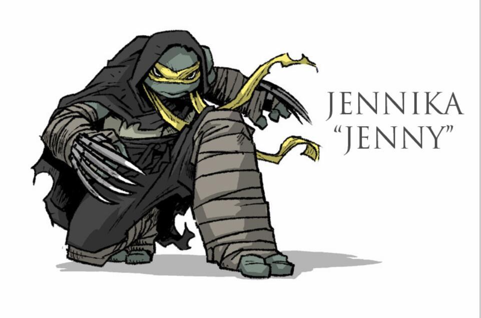 黄头巾配金刚爪 《忍者神龟》漫画惊现首位女性神龟