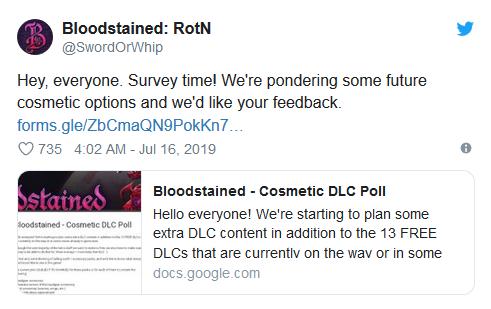 官方发布《赤痕:夜之仪式》调查问卷 将推出外观DLC