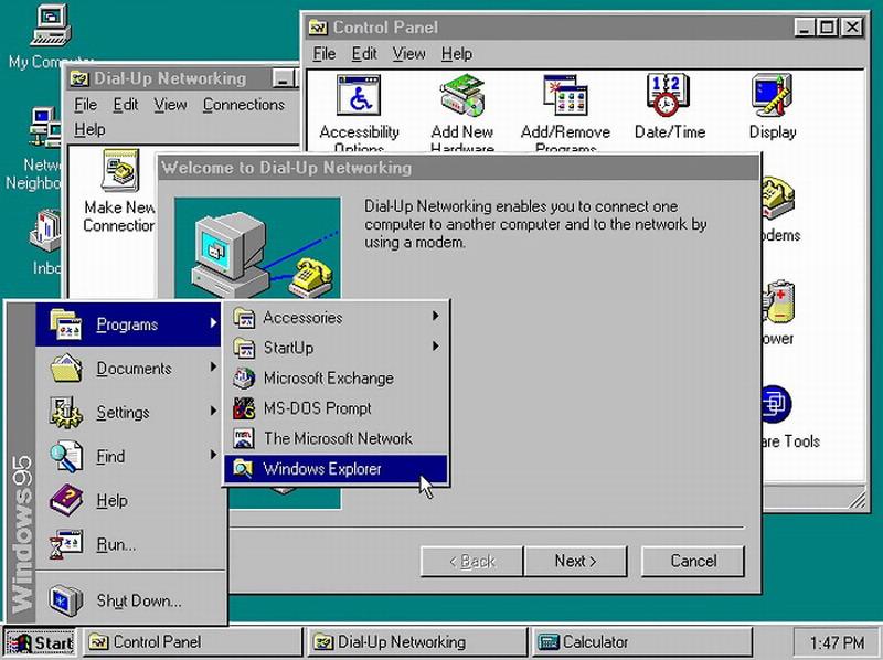 重玩微软Win95系统 晃动鼠标竟让操作系统变得更快