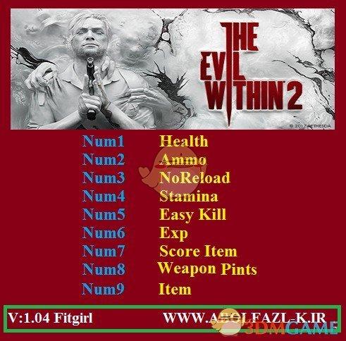 《恶灵附身2》v1.04九项修改器[Abolfazl]