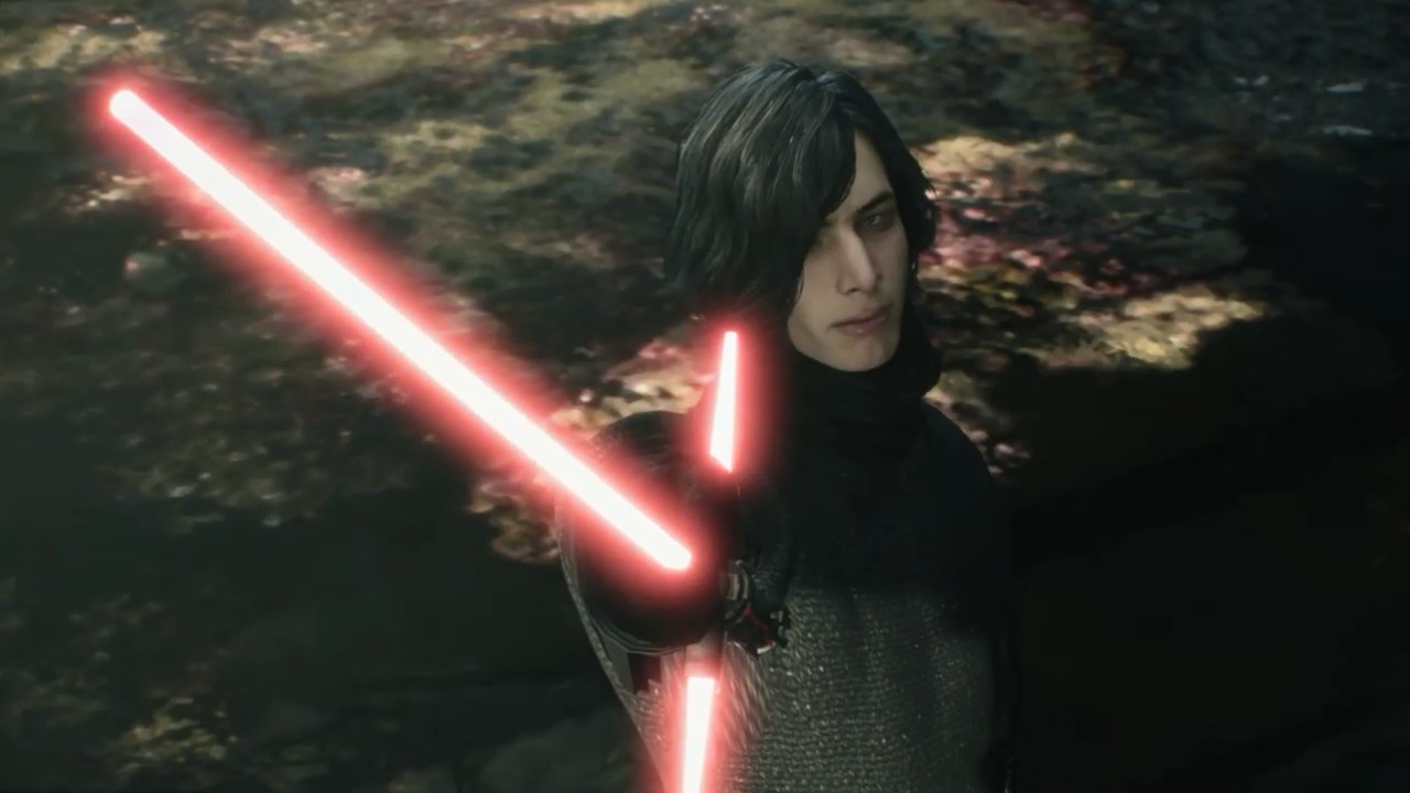 《鬼泣5》凯洛·伦MOD实机演示 倒抓光剑真厉害