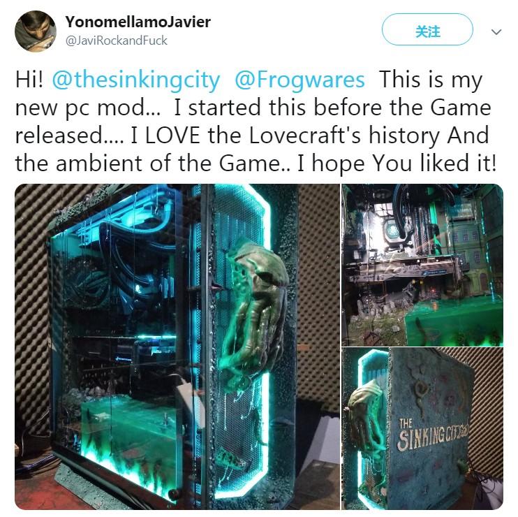 网友自制《沉没之城》PC主机 创意真的太过分了 第1张