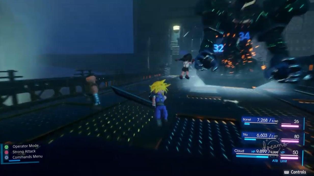 粉丝自制《最终幻想7:重置版》演示  三头身有些经典