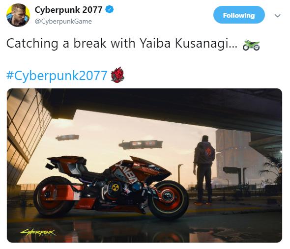 致敬日漫《阿基拉》 《赛博朋克2077》暴光配角酷炫机车展示图